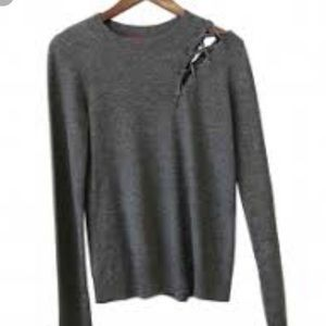n:Philanthropy wool/cashmere Rocco Lace Up Sweater